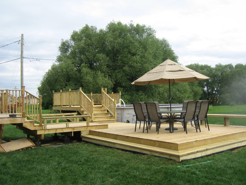 Patios et terrasses les constructions p binette for Plan de patio exterieur