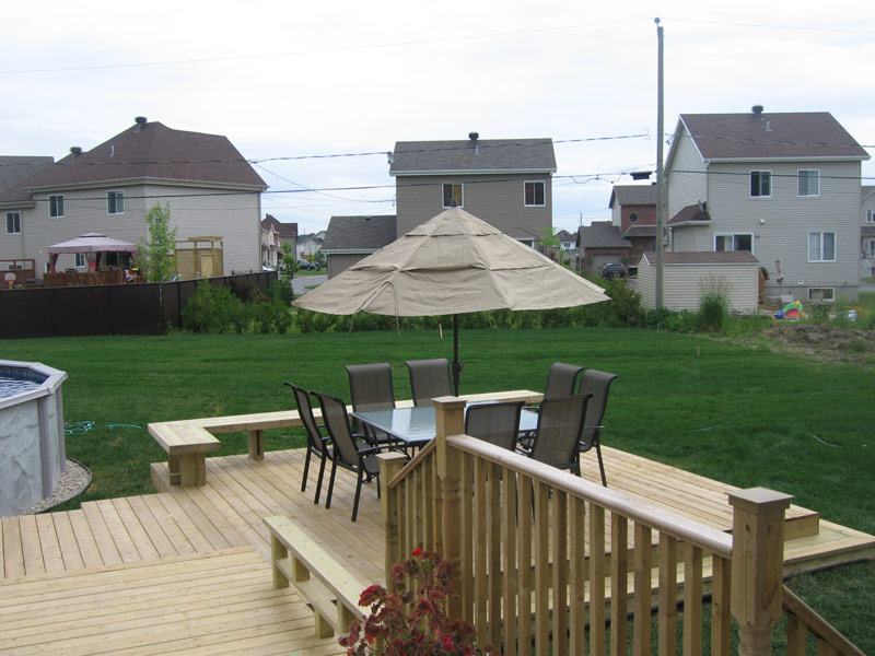 Patios et terrasses les constructions p binette - Photo patio exterieur ...